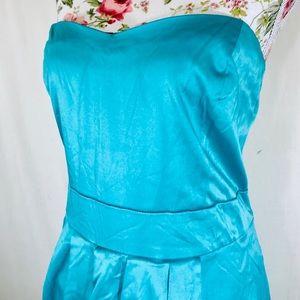 NWOT Forever 21 ocean blue formal dress